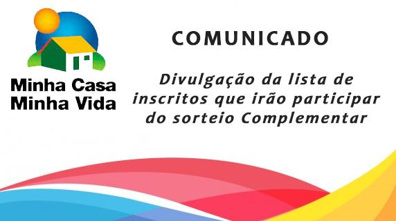 """<a class=""""amazingslider-posttitle-link"""" href=""""http://www.vespasiano.mg.gov.br/noticias/comunicado-divulgacao-da-lista-de-inscritos-que-irao-participar-do-sorteio-complementar-do-programa-minha-casa-minha-vida/"""">Minha Casa minha Vida - lista de Inscritos que irão participar do sorteio complementar</a>"""